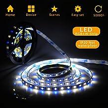 Simfonio Tiras Led RGBW 5m 300 Leds 5050 SMD Tiras de LED Kit Completo
