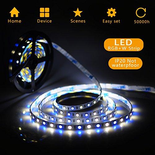 Strisce led luce 5m 5050smd rgbw 300leds striscia led kit completo