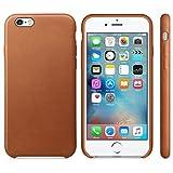 Tonsee Pour iPhone 6S 4.7inch Nouveau ultra-mince en cuir de luxe Retour Housse pour iPhone 6S 4.7inch (brun clair)