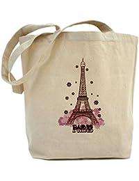CafePress diseño de torre Eiffel Tote Bag–Natural gamuza de bolsa de lona bolsa, bolsa de la compra