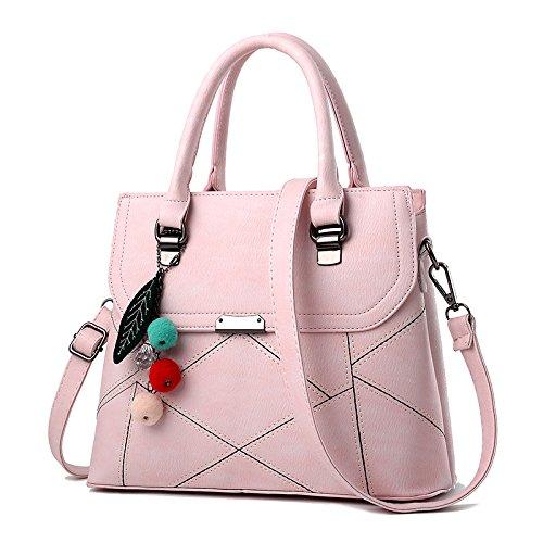 GUANGMING77 Messenger Bag _ Crossbody Borsetta Borsetta Donna Semplice,Verde Militare Light pink