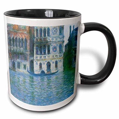3dRose mug_126637_4 The Palazzo Dario By Claude Monet 1908 Becher, keramik, schwarz - Palazzo 4 Licht