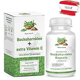 Bockshornklee 200 Kapseln + zusätzlich Vitamin C | aktivierte Bockshornkleesamen aus ÖSTERREICH kein Import - vegan - hochdosiert - gemahlen