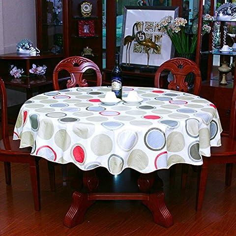 oil-free paño/Mesa redonda/Paño de tabla plástico hogar rural y impermeable redonda mantel/PVC[Sin Aceite Fondos]-C diámetro137cm(54inch)