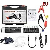 Tragbare Auto Starthilfe Jump Starter 12V 20000mAh Akku Ladegerät Autobatterie Anlasser LED-Beleuchtung Kompass Notfall Kit