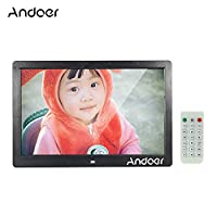 Andoer 13 Inch TFT LED Digital Photo Picture Frame High Resolution 1280 x 800 Advertising Machine MP3 MP4 Movie Player Alarm Clock with Remote Control Gift Present