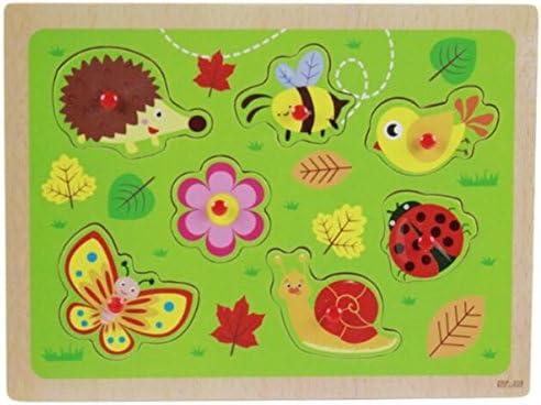 Jouets éducatifs de puzzle pour les enfants Cognitive en bois Puzzle éducation Learning Toy cadeaux fantastiques pour les enfants (insectes) | Un Approvisionnement Suffisant