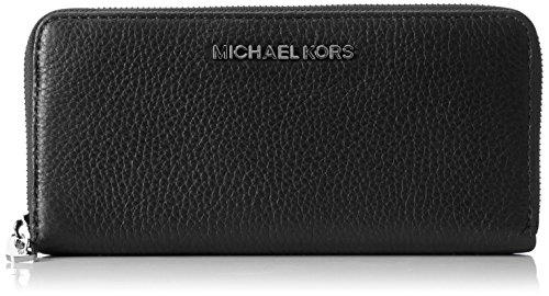 Michael Kors 32H2SBFE1L001 Womens Zip Continental Bedford Wallet Black (Black)