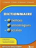 Dictionnaire de Sciences Economiques et Sociales by Philippe Deubel (2012-09-04)