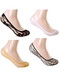 Damen  Füßlinge Ballerina Socken  nute unsichtbar Footies