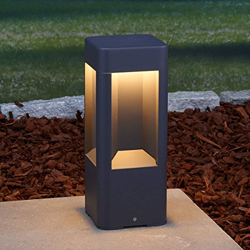 """LED Außenleuchte """"Annika"""" (Modern) in Schwarz aus Aluminium (A+) von Lampenwelt   Wegeleuchte, Pollerleuchte, Wegelampe, Sockelleuchte"""
