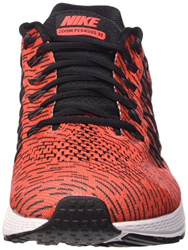 Nike  Air Zoom Pegasus 32 Print, Scarpe sportive, Uomo Bright Crimson/Rflct Slvr-Blk
