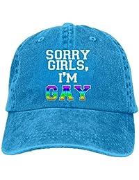 Voxpkrs Sombrero clásico de algodón para papá, Sorry Girls, Soy Gorra de béisbol Ajustable