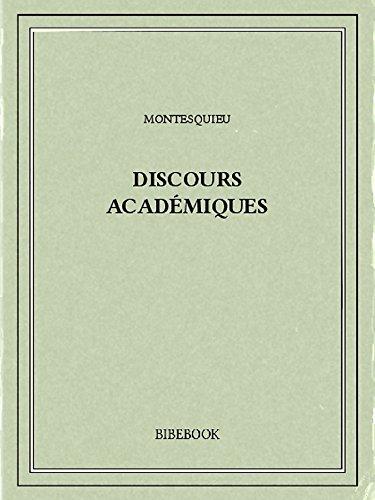 Couverture du livre Discours académiques
