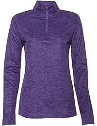 Ladies' Tonal Blend Quarter-Zip Long-Sleeve Pullover