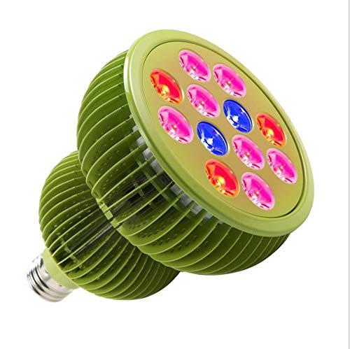 WIVION Pflanzenlampen, LED Vollspektrum Grow Light Wachstumslampe mit 12 * 3W LEDs, Pflanzenleuchte Pflanzenlicht kompatibel mit Standard E26/E27 Buchsen