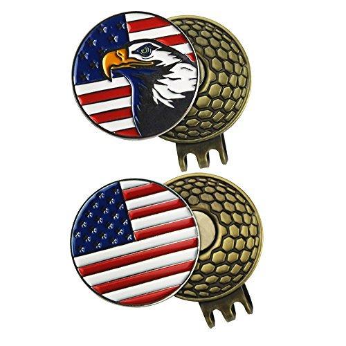 pinmei 2Sets of Golf Ball Marker Mit Magnetischer Golf Hat Clip -