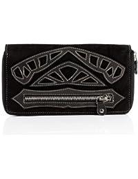 FEYNSINN portefeuille ISSA - grand - porte-monnaie - bourse noir en cuir véritable