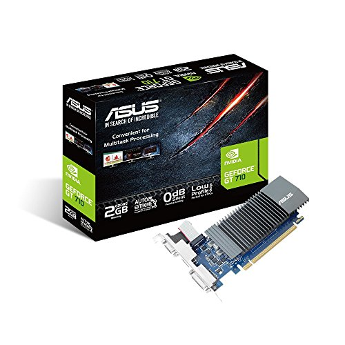 ASUS GT710-SL-2GD5 GeForce GT 710 2GB GDDR5 graphics card - graphics cards (GeForce GT 710, 2 GB, GDDR5, 64 bit, 2560 x 1600 pixels, PCI Express 2.0)