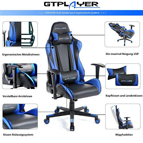 GTPLAYER – Gaming Stuhl - 3