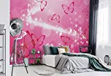 Wallsticker Warehouse Schmetterlinge Fototapete - Tapete - Fotomural - Mural Wandbild - (332WM) - XXXL - 416cm x 254cm - VLIES (EasyInstall) - 4 Pieces