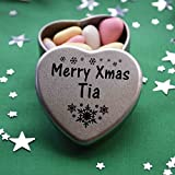 Best Tia Gifts - Merry Xmas Tia Mini Heart Gift Tin Review