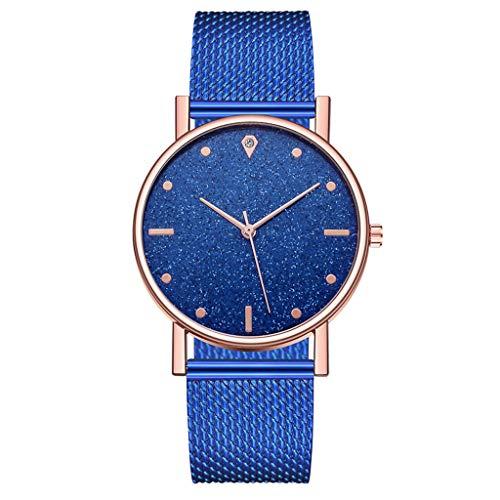 Fenverk Unisex Armbanduhr Damen-Uhr Herren-Uhr, Analog Display, Quarzwerk, Kunst-Leder-Armband, Chronograph-Optik(E#02)