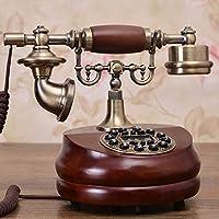 CUIAIDING statue authentic European antique wood retro fashion household telephone landline telephone Decoration home art number