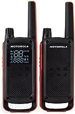 Motorola Talkabout T82 PMR Funkgerät (Bis zu 10 km Reichweite, IPx2 Spritzwasserschutz, 500 mW, VOX)
