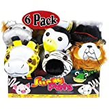 POOF-Slinky 8-1003BL Slinky Pets Plush Pals - 6 Pack