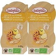 Babybio Bols Biscuité de Pomme Pêche Abricot du Roussillon 240 g - Lot de 8