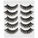 Bepholan Strip Eyelashes False Eyelashes 3D Mink Lashes Faux Mink Lashes Pack Reusable Invisible Band Soft Natural Long Fashion Hand Made Beauty for Women's Make Up