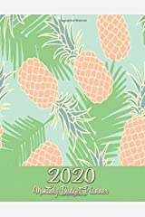 Monthly Budget Planner: DATED Large Annual Financial Personal Budget Planner And Tracker With Inspirational Quotes Mint Coral Pineapples (2020 Budget Planning) Paperback