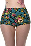Banned Twilight Womens High Waisted Vintage Retro Bikini Bottoms