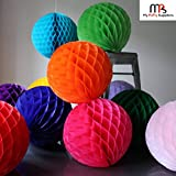 My Party Suppliers Paper Honeycomb Party Decoration Ball - Lavender/ Purple 3 Pcs