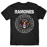 LaMAGLIERIA Camiseta Hombre Ramones - Classic Colors Logo Camiseta Rock 100%...