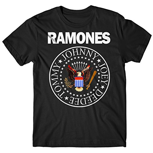 LaMAGLIERIA Camiseta Hombre Ramones - Classic Colors Logo...