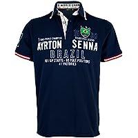 Ayrton Senna Polo-Shirt Brazil 3 times World Champion