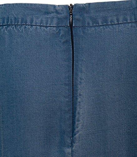 Suncoo Damen Midirock Fitz in Jeansblau bleu jeans
