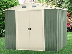 Jardi First - Abri de jardin métal Texas 6.65m² - 2.58 x 2.59 x 2.02 m