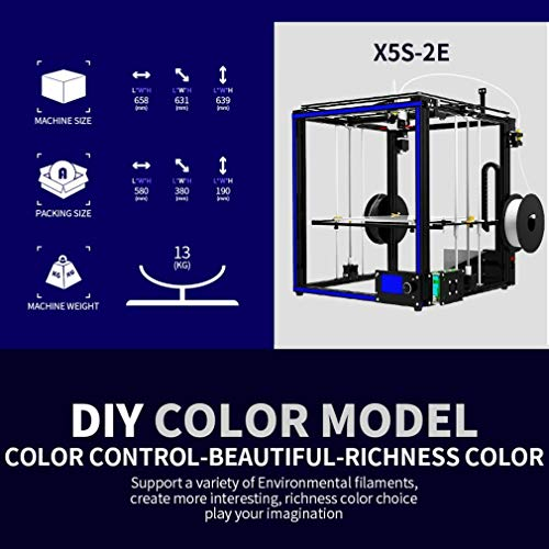 New Tronxy 3D Printer X5S-2E farbern Double Feeding port 3d drucker with hotbed - 7