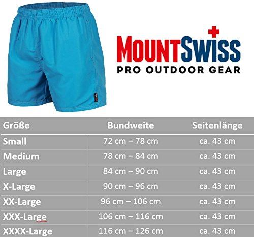 Mount Swiss© Herren Badeshorts / Badehose Doubs Hellblau