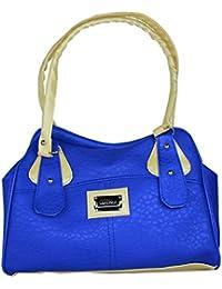 SPERO ™ Women's Stylish Zip Lock Casual Bright Royal Blue Handbag With Free Shipping