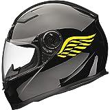 Xaevon Angel WGS Motorradhelm-Aufkleber, 1 Paar, 80 mm x 40 mm, Gelb