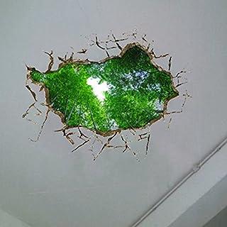 Bluelover 3D Decke Loch Wand Aufkleber Abnehmbare Bamboo Grove Wand Sticker Haus Wand-Dekor