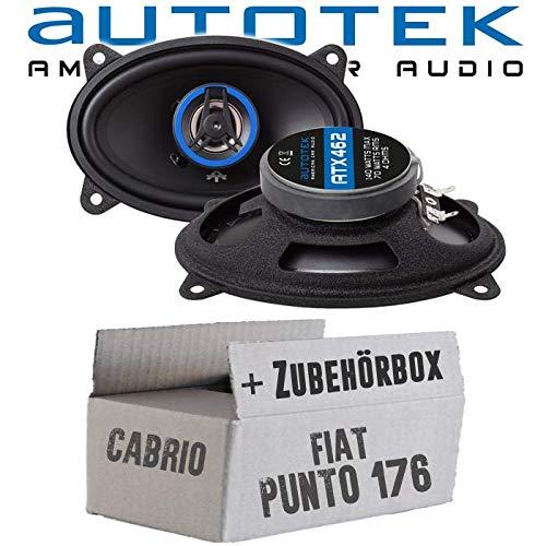 Lautsprecher Boxen Autotek ATX-462 | 2-Wege oval 10x15cm Koax Lautsprecher 4\'x6\' Auto Einbauzubehör - Einbauset für FIAT Punto 1 176 Cabrio Heck - JUST SOUND best choice for caraudio