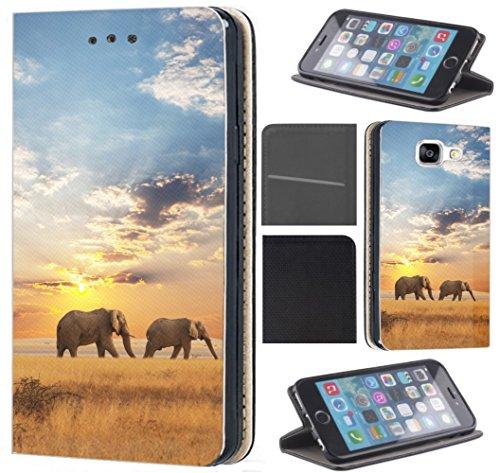 CoverFix Premium Hülle für Apple iPhone 6 / 6s Flip Cover Schutzhülle Kunstleder Flip Case Motiv (1465 Elefant Elefanten Afrika Wildness)