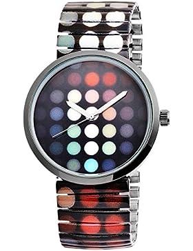 Excellanc Punkt Muster Armbanduhr. Trendige Zugband Damenuhr mit Quartz Uhrwerk