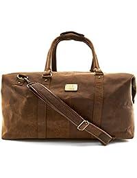 239e969b06ea8 A.P. Donovan - Reisetasche aus Büffelleder ✓ Leder Weekender ✓ Duffle Bag ✓︎