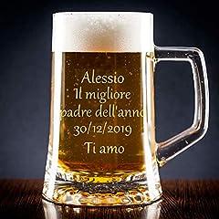 Idea Regalo - Calledelregalo Boccale di Birra Personalizzata con Il Testo Che Desideri